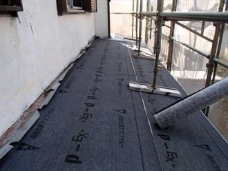 横浜市都筑区 屋根葺き替え 外壁塗装 防水紙の敷設