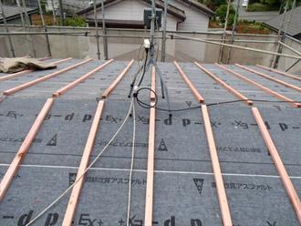 横浜市都筑区 屋根葺き替え 外壁塗装 桟木の設置