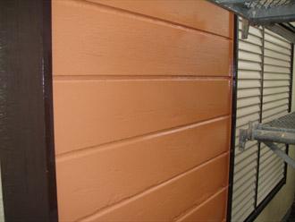 横浜市都筑区 屋根葺き替え 外壁塗装  シャッター収納部の塗装