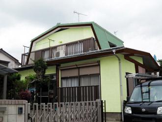 横浜市都筑区 屋根葺き替え 外壁塗装 カラーシミュレーション緑系統