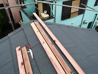 横浜市 鶴見区 屋根葺き替え 棟板金の設置