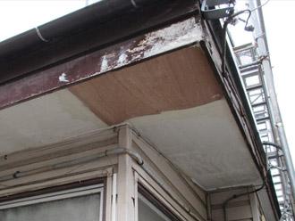 横浜市 鶴見区 屋根葺き替え 軒天の補修