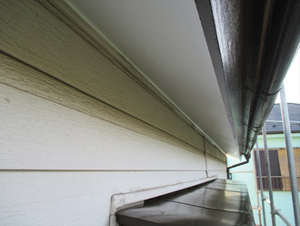 横浜市 鶴見区 屋根葺き替え 破風板の塗装