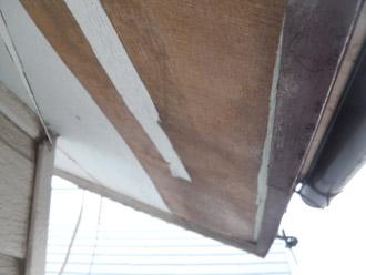 横浜市 鶴見区 屋根葺き替え 外壁の点検 軒天の表面の剥がれ
