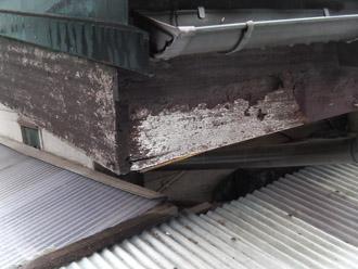 横浜市 鶴見区 屋根葺き替え 外壁の点検 破風板の塗装剥げ