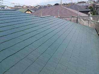 神奈川県横須賀市 屋根塗装 外壁塗装 屋根塗装完了 ヤネMシリコン