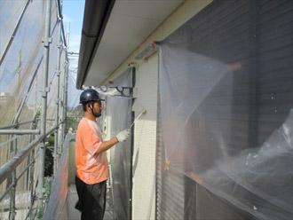 神奈川県横須賀市 屋根塗装 外壁塗装 中塗り クリーンマイルドシリコン