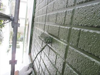 神奈川県横須賀市 屋根塗装 外壁塗装 上塗り クリーンマイルドシリコン