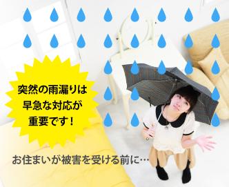 雨水の浸入はお住まいをダメにします