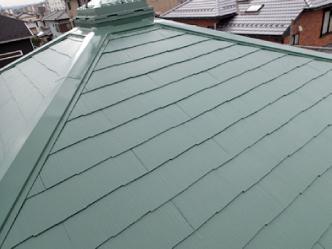 屋根塗装工事 後