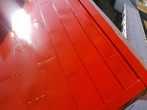 屋根カバー工法 天晴ルーフ 工事後の外観写真