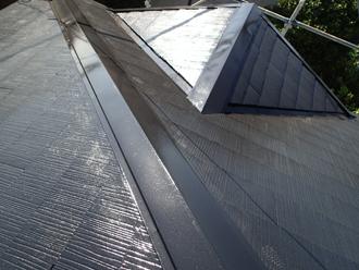 棟板金交換工事 屋根塗装後の棟板金