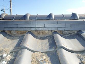 金属屋根のエコグラーニへ葺き替え 瓦の整理