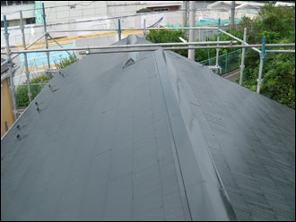 横浜市磯子区 板金交換 屋根塗装 施工後