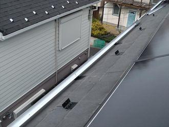 横浜市青葉区 美しが丘 雪止め、アルミアングル設置 施工後
