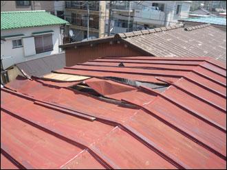 横浜市西区 屋根葺き替え工事 施工前