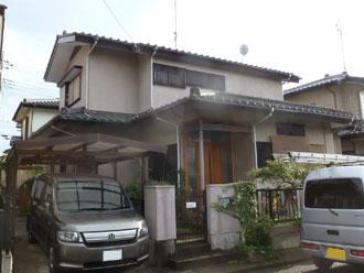 印旛郡栄町 屋根塗装工事 外壁塗装工事 施工前