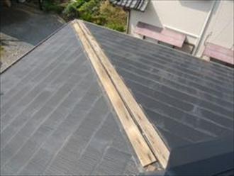 横浜市泉区で屋根工事 棟板金交換 施工前
