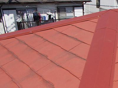 千葉市中央区 強風で板金消失、棟板金交換、樹脂製貫板使用 施工後