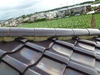 八街市 屋根リフォーム 漆喰詰め直し工事 施工前