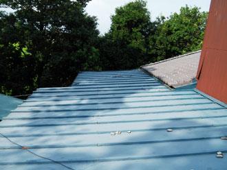 印西市 瓦棒 屋根葺き替え工事 施工前