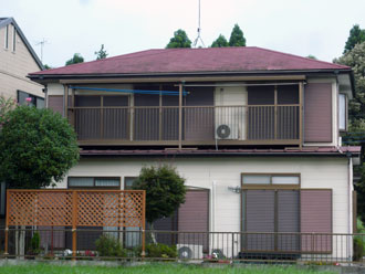 印旛郡酒々井町 屋根リフォーム 屋根カバー工事 外壁塗装工事 施工前
