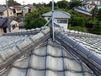 千葉市花見川区 軽く丈夫なROOGA雅を使った瓦屋根の葺き替え工事 施工前
