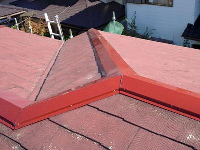 袖ケ浦市 棟板金交換 貫板交換(樹脂製) 雨樋交換工事 施工後