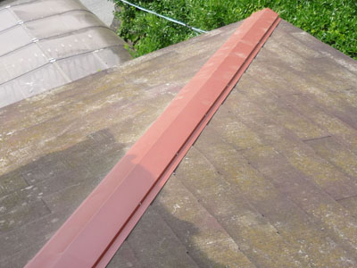 袖ケ浦市 強風で棟板金と雨樋が破損 棟板金・雨樋交換工事 施工後