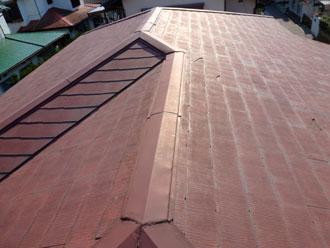 袖ケ浦市 棟板金交換 貫板交換(樹脂製) 雨樋交換工事 施工前