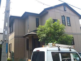 横須賀市 お住まいの全塗装 外壁ナノコンポジットW 屋根ヤネMシリコン 施工前