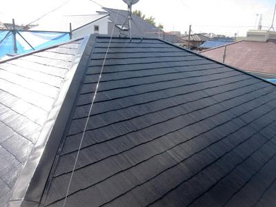 千葉市稲毛区 棟板金交換 屋根と外壁塗装 施工後