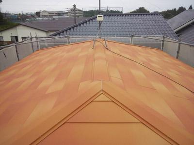 大網白里市 台風で棟板金飛散 屋根カバー工法 施工後