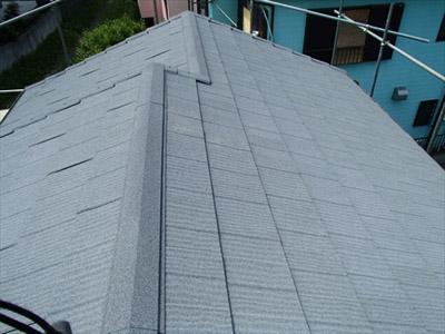 横浜市鶴見区 瓦から金属屋根への葺き替え 施工後