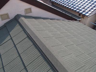 横浜市保土ヶ谷区 屋根カバー工法 西久保東部自治会館様、施工後写真