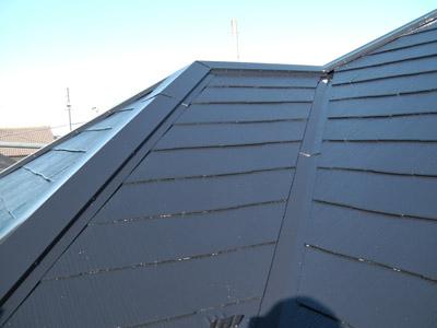横浜市瀬谷区 棟板金飛散から雨漏り発生 屋根塗装・外壁塗装 施工後