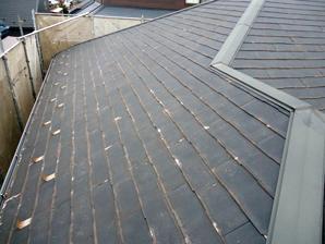 千葉市稲毛区 劣化した屋根を屋根カバー工事 外壁塗装・細部塗装 施工前