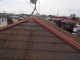 千葉市稲毛区 棟板金交換 屋根と外壁塗装 施工前