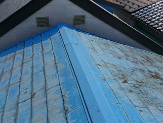 横浜市保土ヶ谷区 屋根カバー工法 西久保東部自治会館様、施工前写真