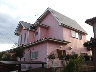 千葉県袖ヶ浦市 台風被害を機にお住まいのイメージチェンジ 屋根・外壁塗装 施工前