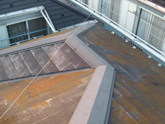 横浜市瀬谷区 棟板金飛散から雨漏り発生 屋根塗装・外壁塗装 施工前