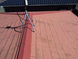 大網白里市 台風で棟板金飛散 屋根カバー工法 施工前