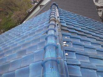 横浜市鶴見区 瓦から金属屋根への葺き替え 施工前