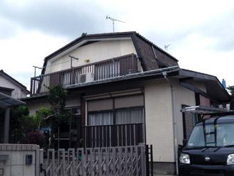 横浜市都筑区 屋根葺き替えで雨漏り解消 外壁塗装 施工前