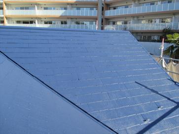 神奈川県横浜市戸塚区戸塚駅 ベランダの雨漏り補修に合わせ、屋根塗装と外壁塗装 施工後