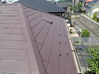 千葉県佐倉市 屋根カバー工法で雨漏り解消 お部屋の雨染みを塗装でリフレッシュ、施工前写真