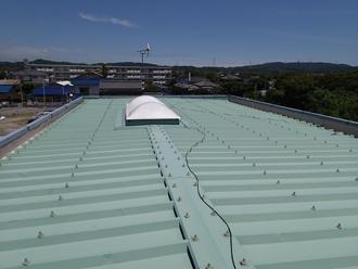千葉県富津市 パチンコ店の屋根リフォーム 屋根カバーと外壁塗装 施工前