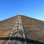 傷んだアーバニーの屋根