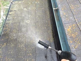 船橋市屋根カバー工事,足場、洗浄001