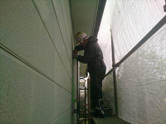 船橋市外壁塗装工事、養生001
